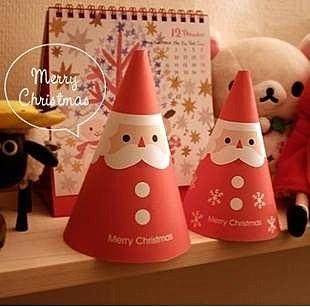 =優生活=((聖誕帽卡片4入$59元))聖誕節卡片帽子造型 四種款式 聖誕帽 聖誕禮物