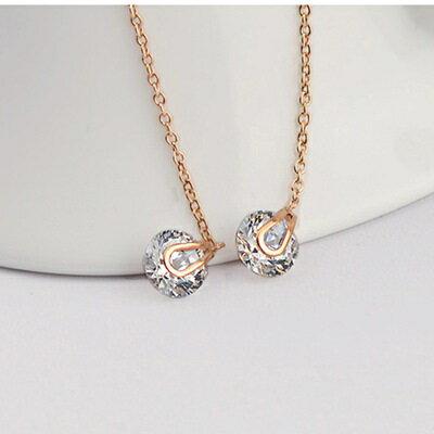 ~玫瑰金耳環925純銀水晶耳飾~簡約氣質流蘇 情人節 女飾品2色73gs164~ ~~米蘭