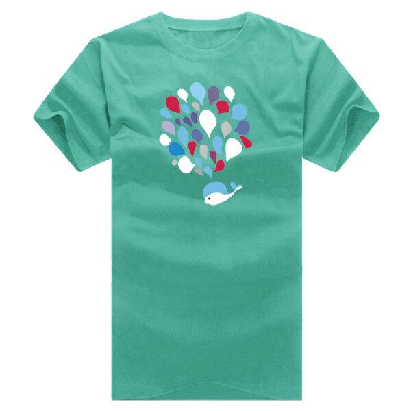 T恤 情侶裝 客製化 MIT台灣製純棉短T 班服◆快速出貨◆獨家配對情侶裝.小鯨魚大噴水【YC216】可單買.艾咪E舖 2