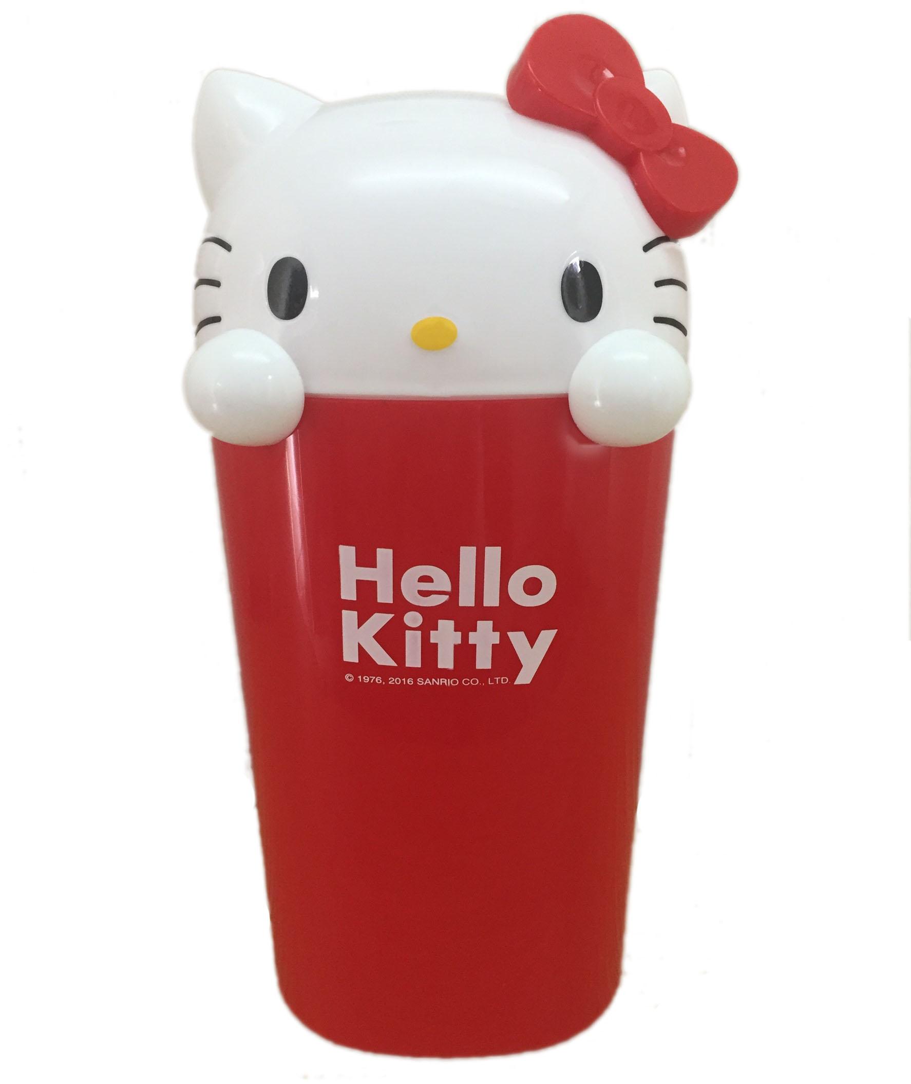 【真愛日本】16071900001造型垃圾桶-KT大臉紅  三麗鷗 Hello Kitty 凱蒂貓  居家 收納桶 正品 限量