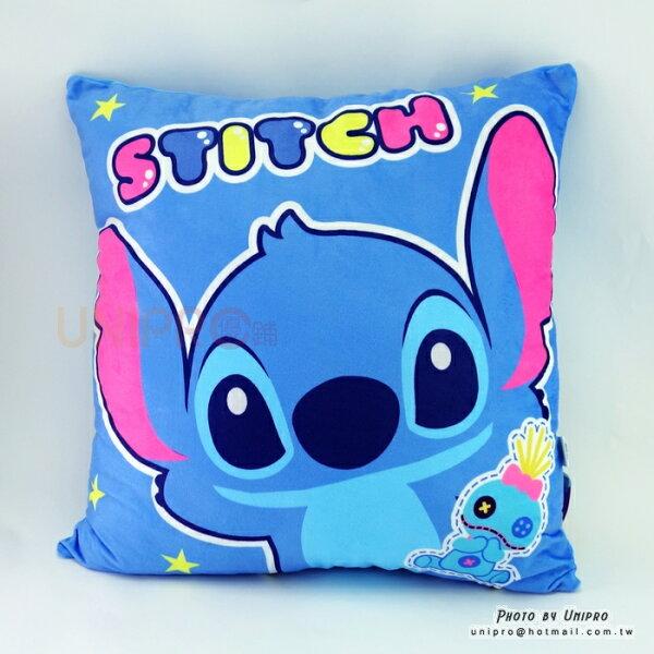 【UNIPRO】迪士尼史迪奇與醜丫頭STITCH45X45方枕靠枕抱枕正版授權星際寶貝