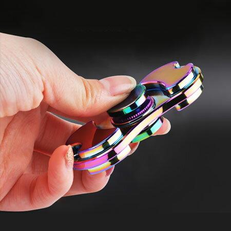 炫彩指尖陀螺 指尖螺旋 手指陀螺 指間陀螺 Hand Spinner 鋁合金 指尖旋轉 紓壓神器 療癒 解壓 玩具【N500038】