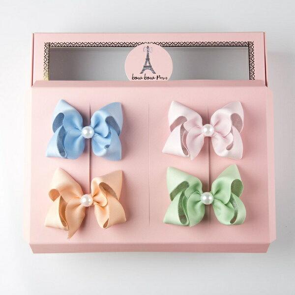 【BowBowParis澎澎法飾】法式珍珠雙色禮盒組(4入組)