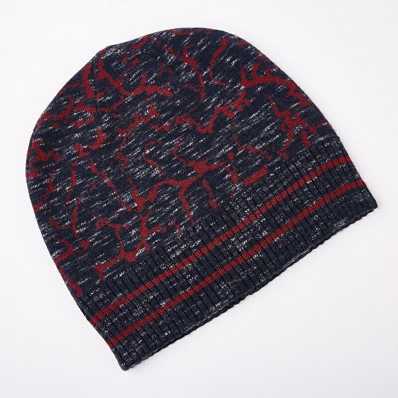 毛帽羊毛針織帽-護耳條紋提花捲邊男帽子2色73wj36【獨家進口】【米蘭精品】 2