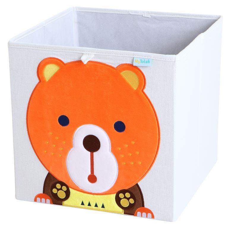 收納櫃 收納  收納箱 兒童收納 MyTolek 童樂可積木櫃&藏寶盒六件組(北歐風~木紋) 7