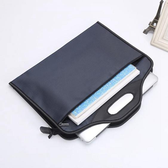 公文包a4手提袋文件袋帆布開會袋簡約男女士辦公包商務會議袋昂特
