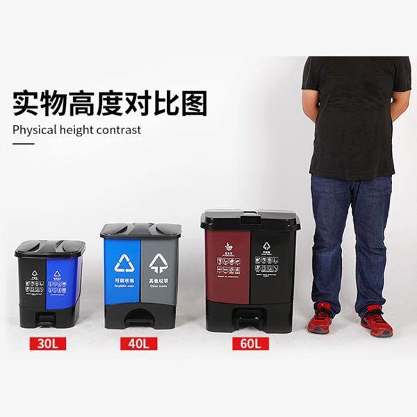 【618購物狂歡節】戶外垃圾桶 垃圾分類垃圾桶家用雙桶干濕垃圾大號中號小號戶外方形廚房