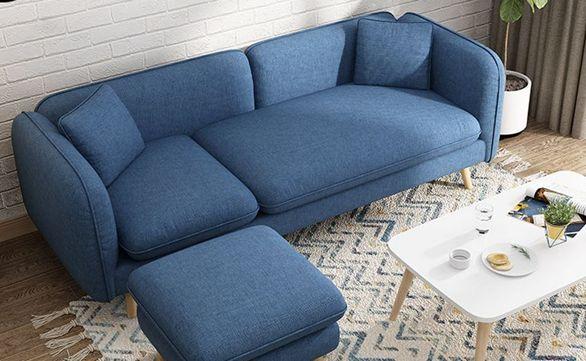 沙發 北歐布藝沙發小戶型現代簡約客廳雙三人店鋪布沙發整裝組合網紅款