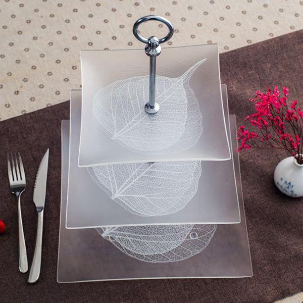 水果盤 歐式客廳三層水果盤多層家用甜品臺塔糕點玻璃下午茶點心蛋糕架托