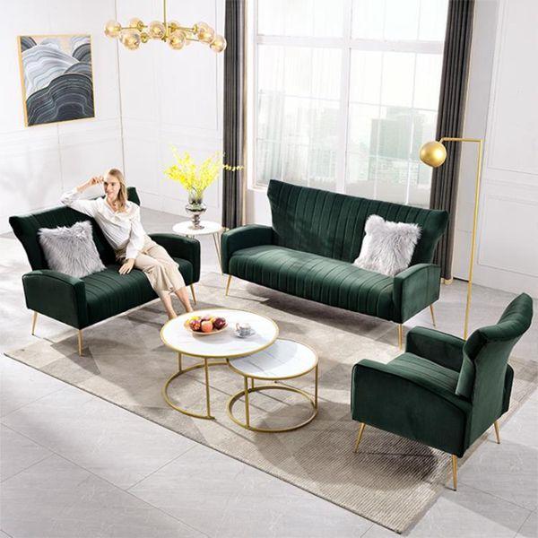 沙發 北歐單人沙發美式布藝輕奢沙發椅現代簡約客廳組合三人沙發老虎椅