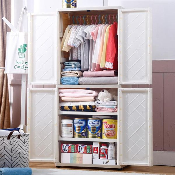 收納櫃 收納柜衣柜兒童塑料抽屜式儲物柜簡易小衣櫥玩具整理柜子