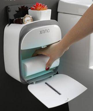 【618購物狂歡節】衛生間置物架 衛生間抽紙盒免打孔家用廁紙廁所創意衛生紙盒紙巾防水卷紙置物架