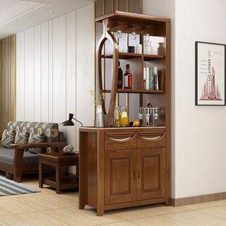 【618購物狂歡節】屏風櫃 客廳玄關柜隔斷柜小戶型實木酒柜進門屏風間廳柜雙面現代簡約鞋柜