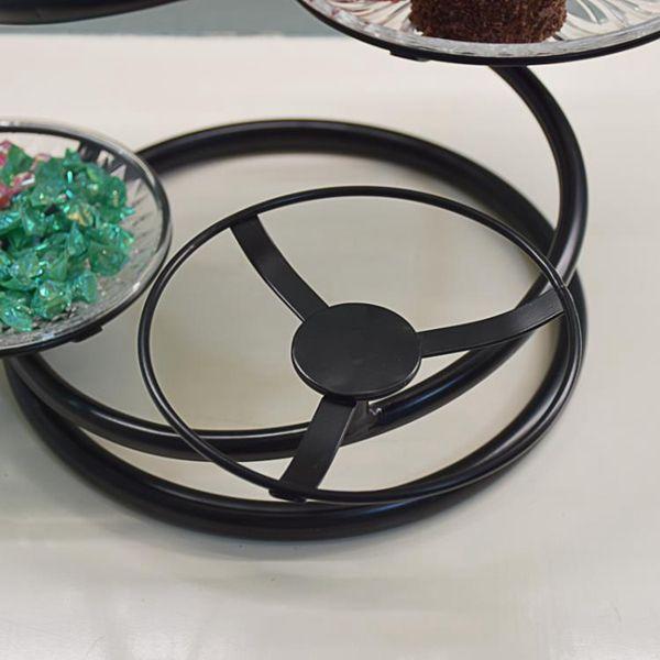 水果盤 歐式鐵藝多層水果盤蛋糕架創意客廳下午茶點心托盤婚慶小吃糕點臺