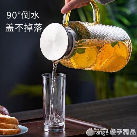 天喜冷水壺玻璃耐熱高溫防爆涼白開水杯家用大容量茶壺套裝涼水壺全館促銷限時折扣