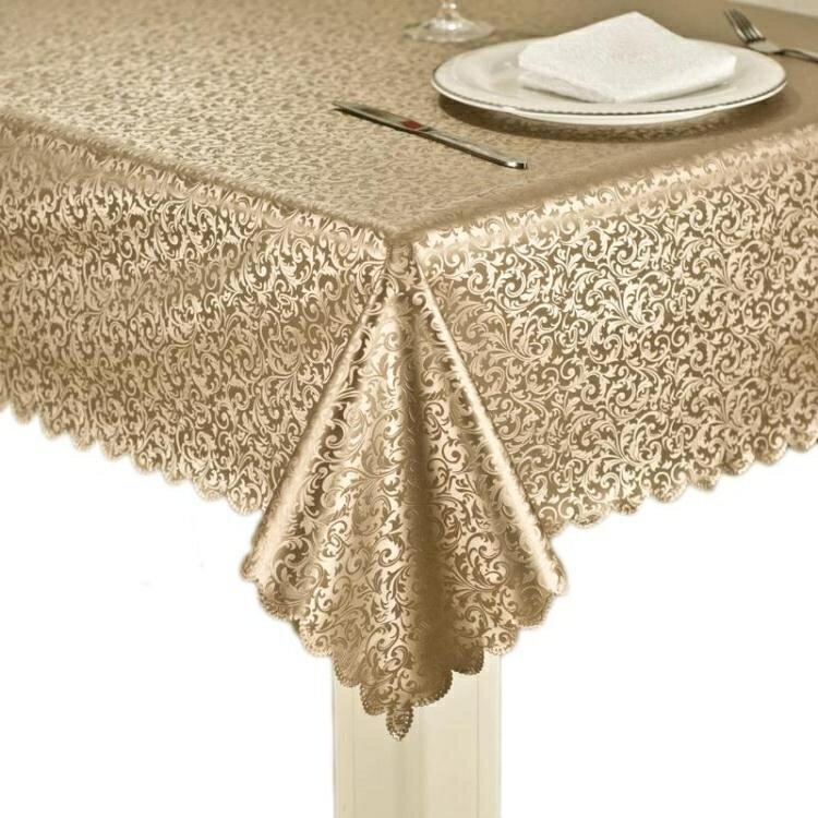 餐桌布防水防油防燙免洗布藝餐廳茶幾墊桌墊全館促銷限時折扣