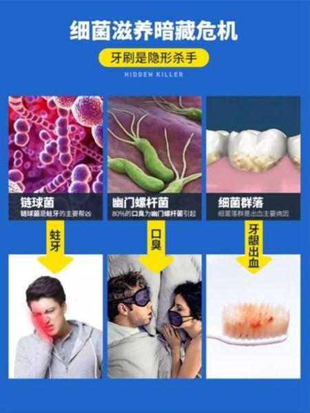 【618購物狂歡節】牙刷架紫外線牙刷消毒器殺菌衛生間壁掛刷牙杯套裝電動牙具置物架免打孔
