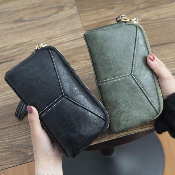 【618購物狂歡節】長夾新款日韓長款女士女包簡約百搭手拿包簡約零錢手抓包手機包