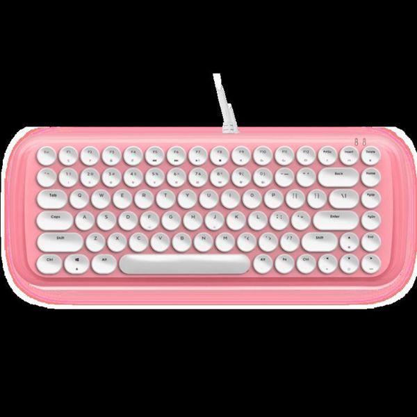 seenDa 機械鍵盤女生可愛復古游戲辦公專用打字青軸朋克87鍵真電競筆