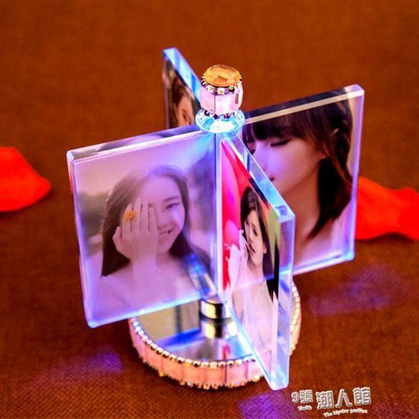 創意風車相框擺臺相冊結婚紀念擺件七夕情人節禮物
