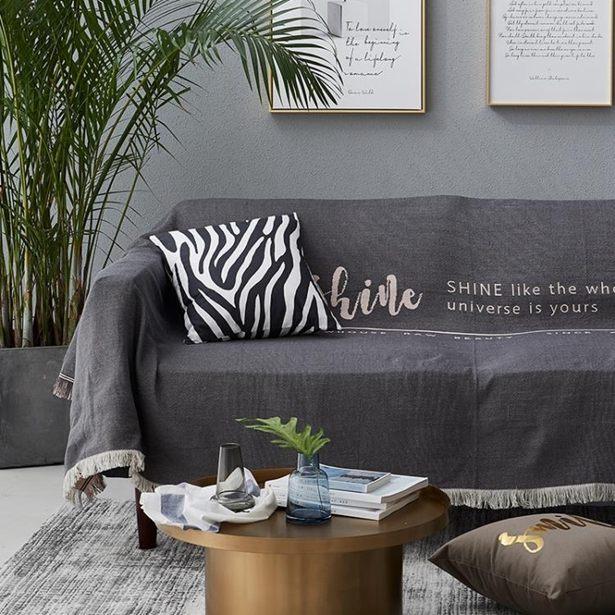 【618購物狂歡節】沙發罩 北歐沙發蓋布雙面字母沙發布全蓋沙發巾沙發罩單雙人沙發套ins風全館免運限時優惠