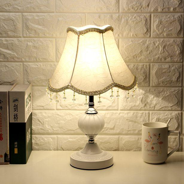 【618購物狂歡節】桌燈歐式臥室裝飾婚房溫馨個性檯燈創意現代可調光LED節能床頭燈全館免運限時優惠