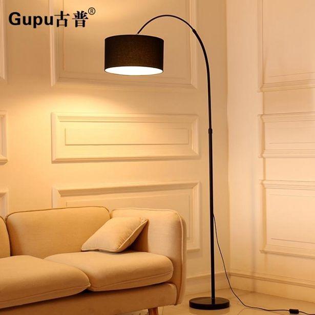釣魚燈落地燈led遙控北歐創意簡約客廳書房臥室床頭立式台燈全館免運限時優惠
