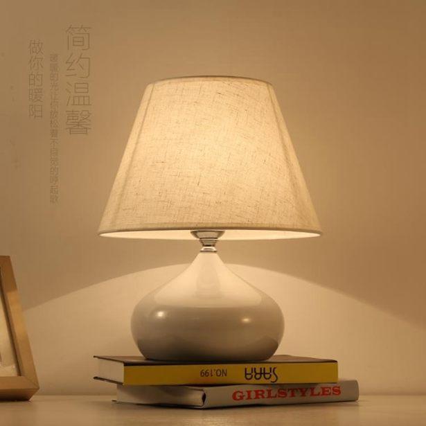 【618購物狂歡節】桌燈檯燈簡約現代臥室床頭燈創意浪漫溫馨家用床頭柜檯燈全館免運限時優惠