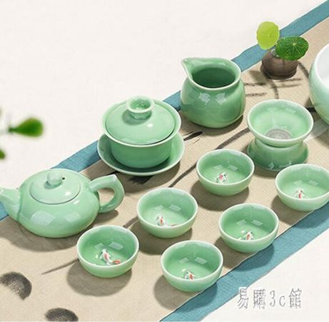 【618購物狂歡節】茶具套裝 功夫茶具套裝家用簡約現代泡茶杯茶壺景德鎮茶藝客廳 aj1689