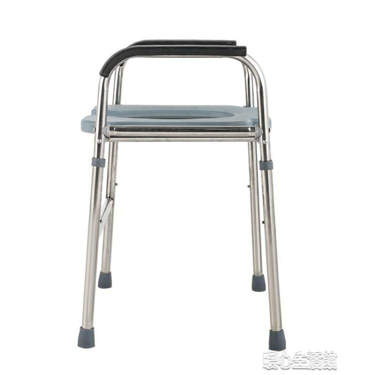 不銹鋼加粗孕婦坐便椅子老人殘疾人坐便器凳移動馬桶增高坐便架子全館免運限時優惠