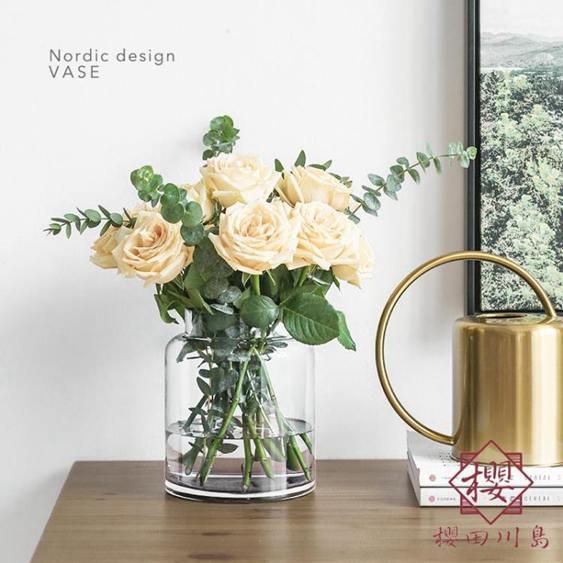 花瓶擺件客廳裝飾北歐風玻璃花瓶
