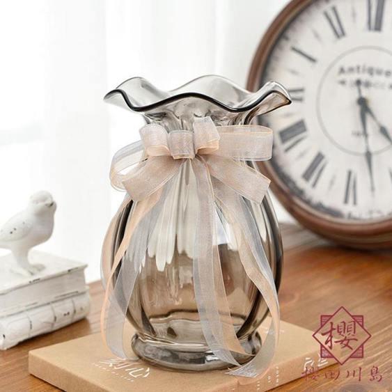 法式復古花瓶電驢玻璃花瓶裝飾擺件