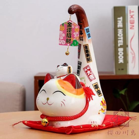 日式發財貓招財貓擺件家居開業招財進寶