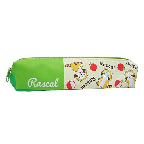 綠色款~  ~ 小浣熊 拉斯卡爾 皮質 筆袋 鉛筆盒 小筆袋 防潑水 puchi Rasc