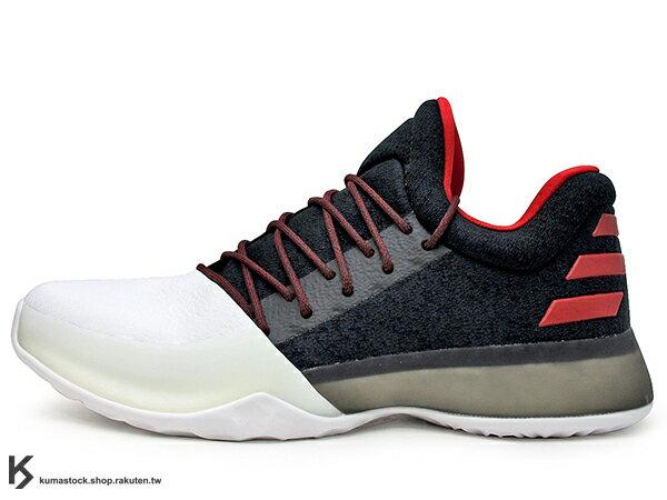 2016 大鬍子 哈登 強勢代言 限量登場 ADIDAS HARDEN VOL.1 PIONEER 一代 白黑紅 主場配色 全掌 BOOST 緩震科技 NBA 休士頓 火箭隊 JAMES (BW0546) !