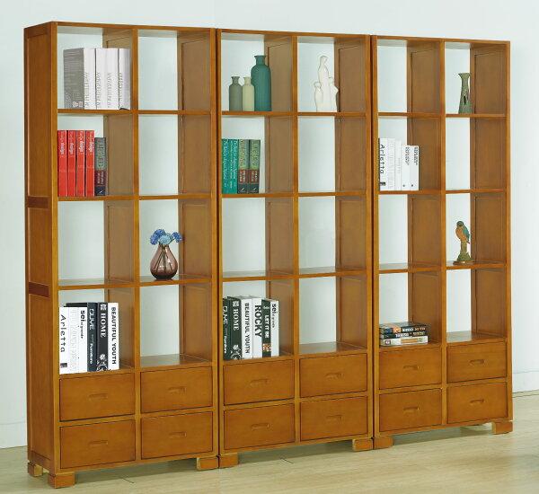 尚品傢俱:【尚品傢俱】JF-354-1宙斯2.5尺柚木四抽開放書櫃