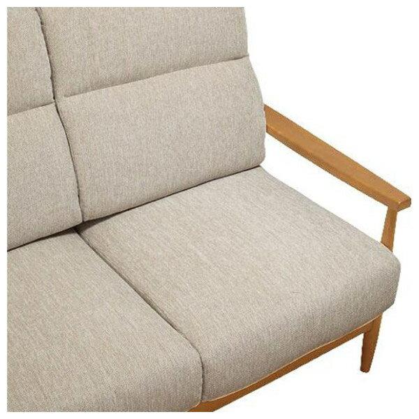 ◎(OUTLET)布質3人用沙發 HILL2 BE / LBR 福利品 NITORI宜得利家居 2