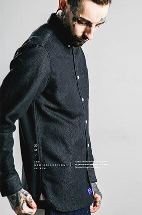 LINAGI里奈子精品【W01299】新品男式襯衫修身日系男式襯衣高級面料男裝 2