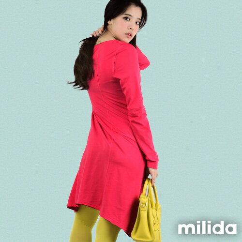 【Milida,全店七折免運】-秋冬單品-洋裝款-長版休閒風 5