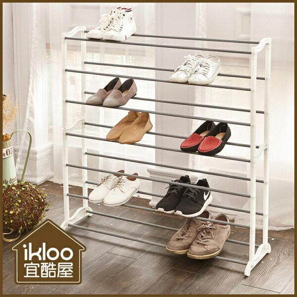 BO雜貨【YV9081】ikloo~極簡實用層疊鞋架收納架層架拖鞋架置物架SHF25