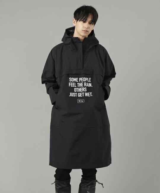 日本kiu  /  帥氣防潑水 防風長版罩衫 外套 附收納袋   / K110 。共4色。(8640)日本必買 日本樂天代購 2