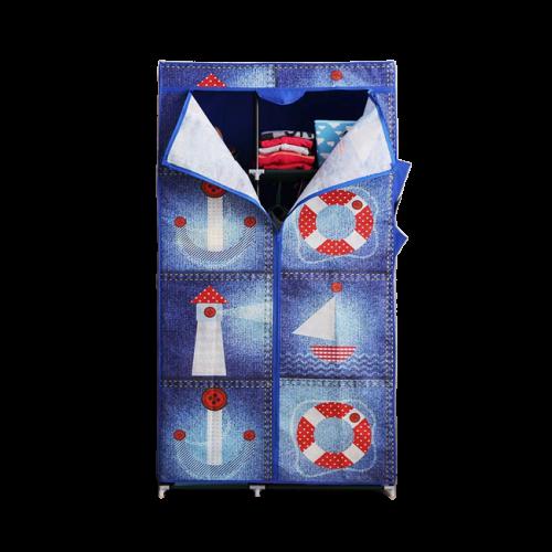 【凱文】簡易組裝防塵衣櫥-海洋