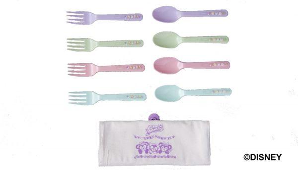 直送 東京迪士尼海洋館 Disney 達菲 雪莉梅 傑拉托尼 款 野餐湯匙 叉子組 ^(4