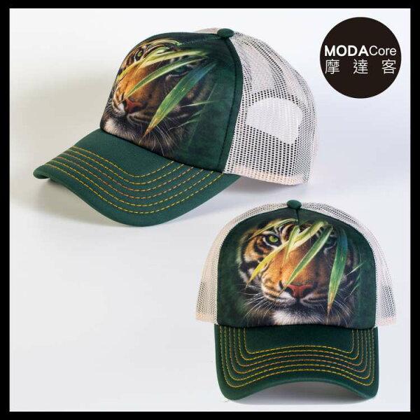 【摩達客】(預購)美國進口TheMountain林中之虎藝術棒球帽網帽5-Panel新五分割帽