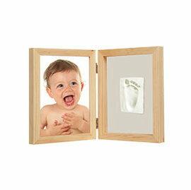 【淘氣寶寶】Adora珍愛回憶系列 寶寶手足模印相框(極簡桌上型-原木色)