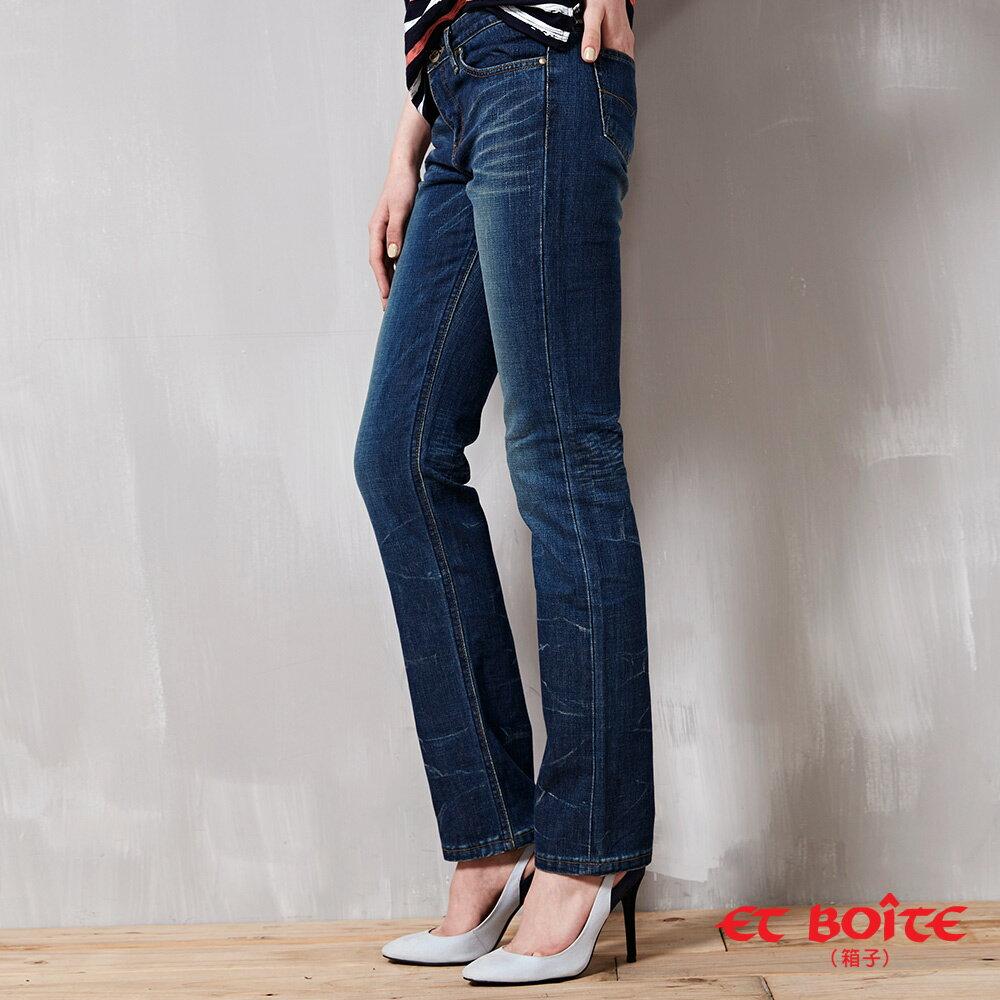 折痕低腰窄直筒褲 - BLUE WAY  ET BOiTE 箱子 2