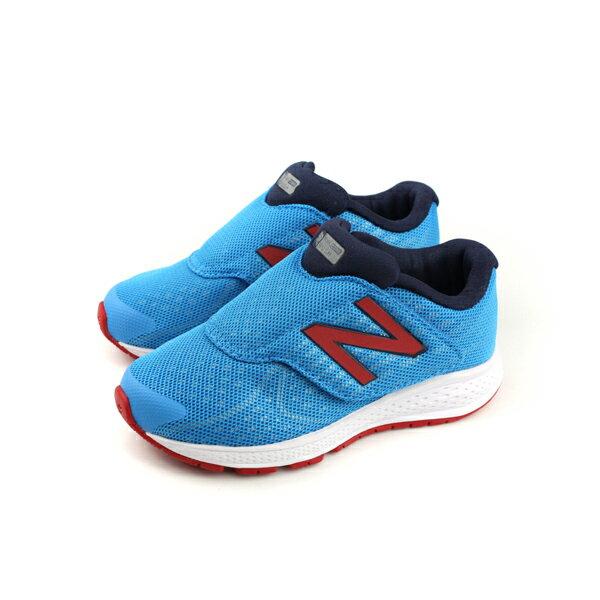 NewBalanceFUELCORERUSH運動鞋魔鬼氈中童童鞋藍色KVRUSSBP-Wno426