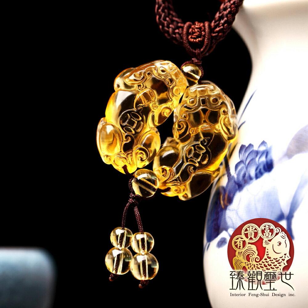 39折 貔貅 亮麗黃琉璃貔貅項鍊 量提升 含開光 臻觀璽世 IS0475