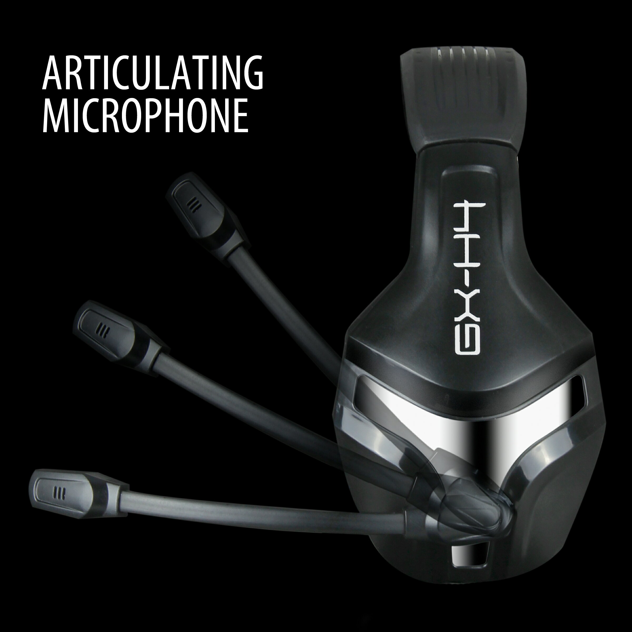ENHANCE GX-H4 Stereo Gaming Headset with Adjustable Microphone &  Noise-Isolating Earphones 3