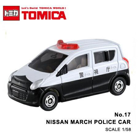 日貨 TOMICA No.17 NISSAN MARCH POLICE CAR 警車 真車系列 汽車模型 多美小汽車【N201641】